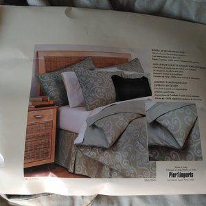 Pier 1 Imports - NEW Scroll jacquard king duvet